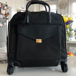 Tumi Carry On Leather Pocket / Gold Hardware